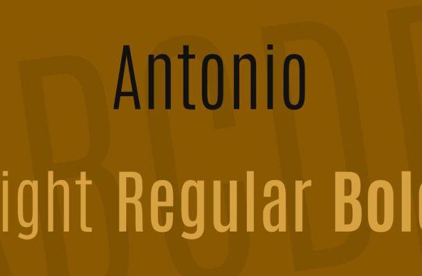 Antonio Font Family