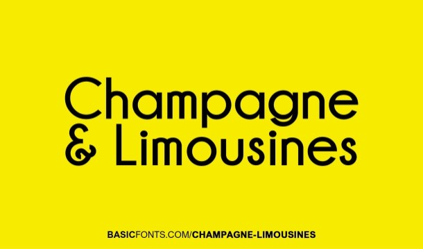 Champagne & Limousines Font Free