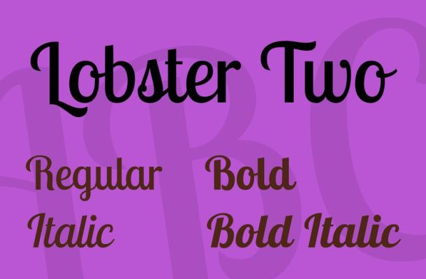 Lobster Two Font Family