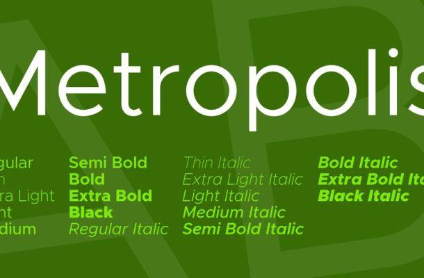 Metropolis Font Family