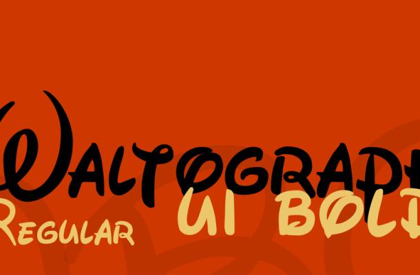 Waltograph Font Free