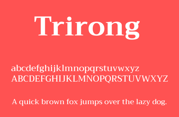 Trirong Font Family