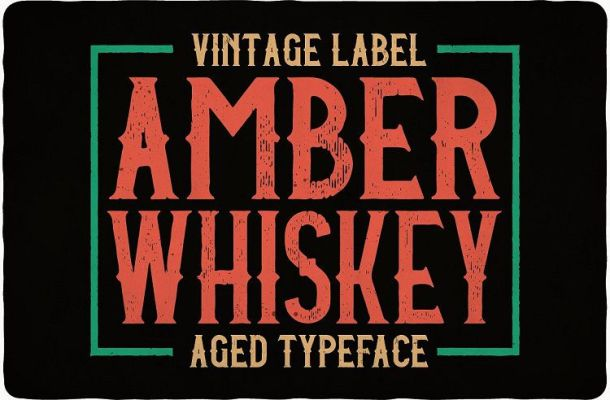 amber-whiskey-typeface-1