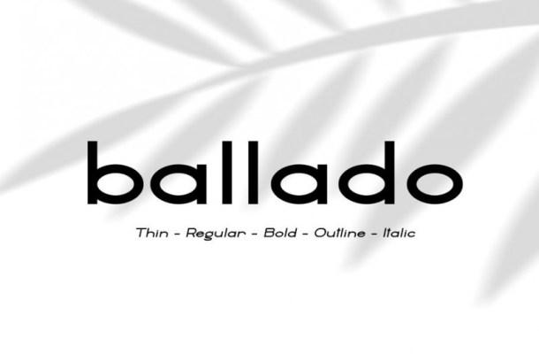 Ballado Geometric Sans Font