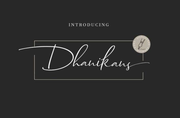 Dhanikans Signature Font
