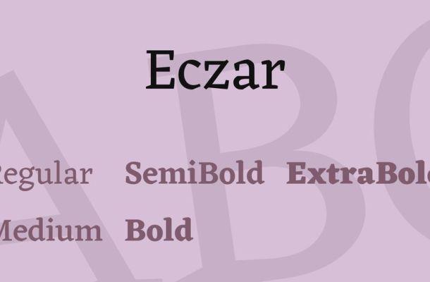 Eczar Font Family