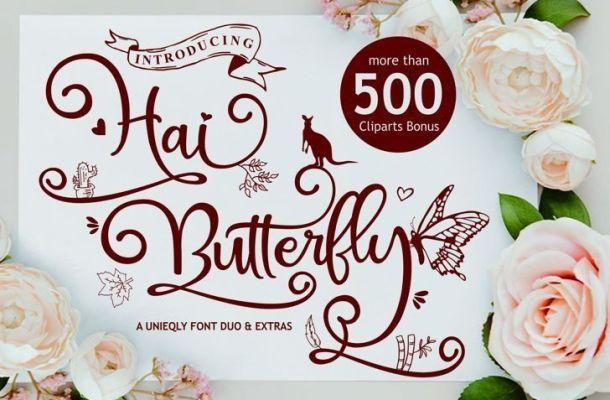 Hai Butterfly Font