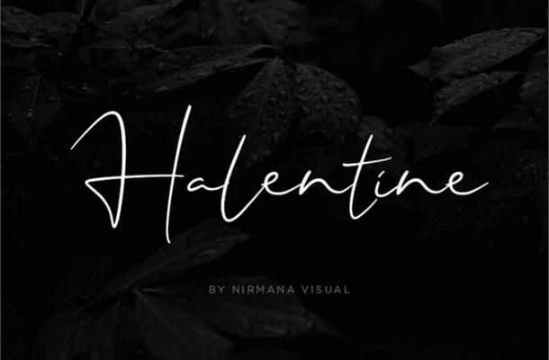 Halentine Font
