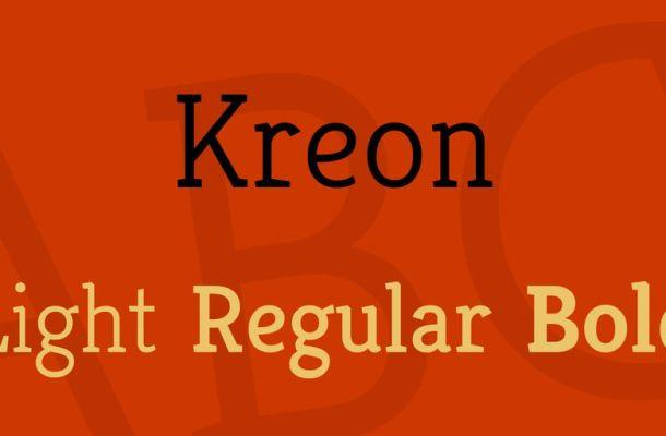 Kreon Font Family