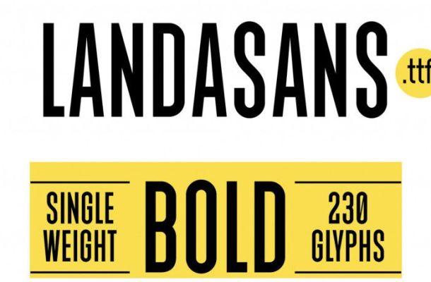 Landasans Free Font