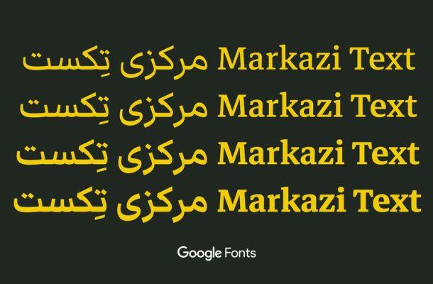Markazi Text Font Family