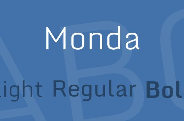 Monda Font Family