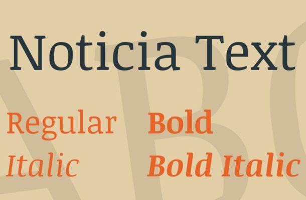 Noticia Text Font Family