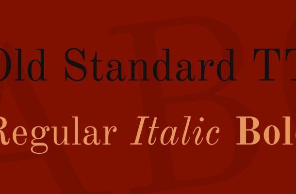 Old Standard TT Font Family