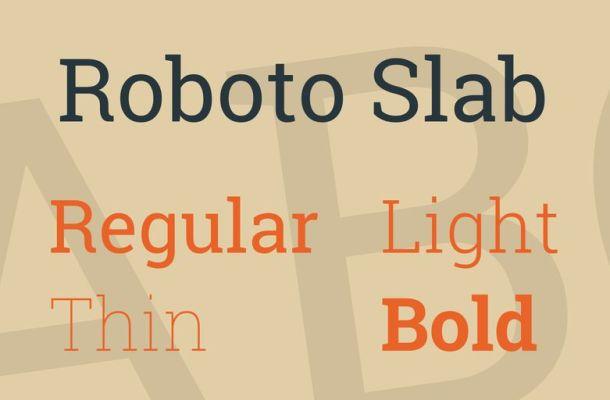 Roboto Slab Font Family
