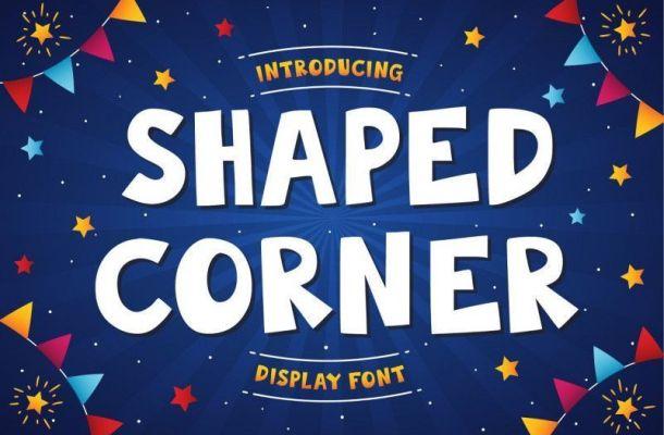 Shaped Corner Display Font