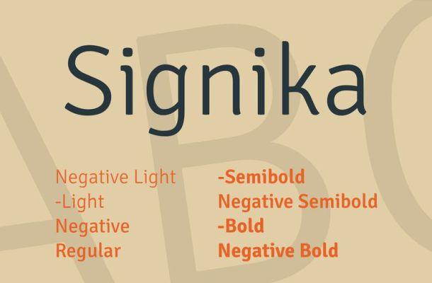 Signika Font Family