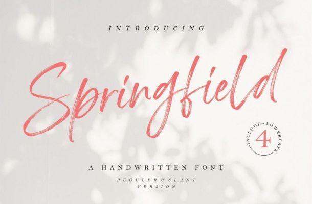 Springfield Hand Brush Font