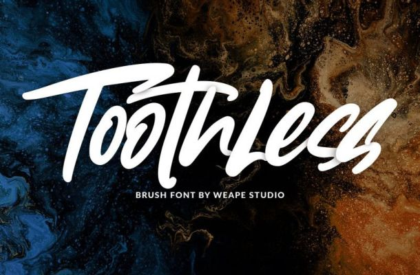 Toothless Brush Font