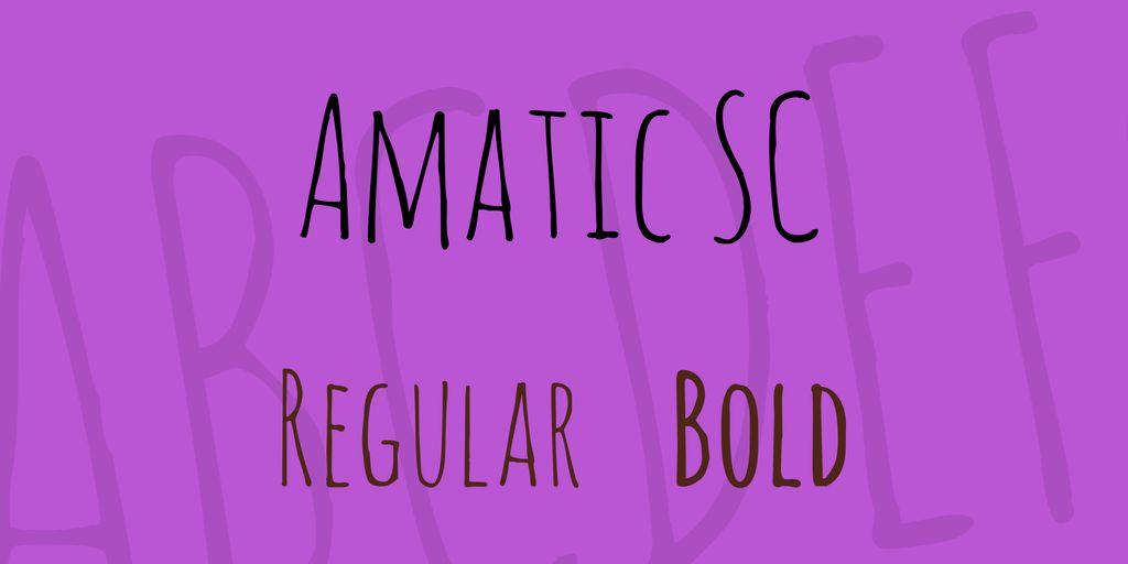amatic-sc-font