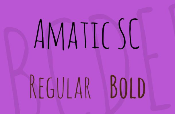 Amatic SC Font Family