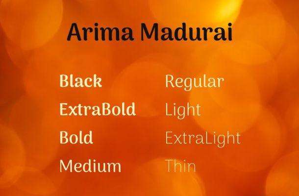 Arima Madurai Font Family