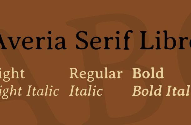 Averia Serif Libre Font Family