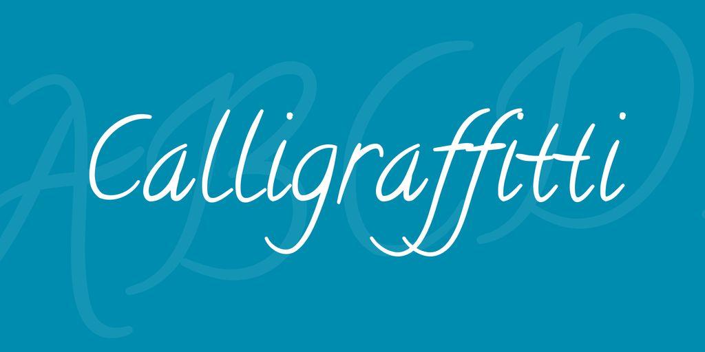 calligraffitti-font