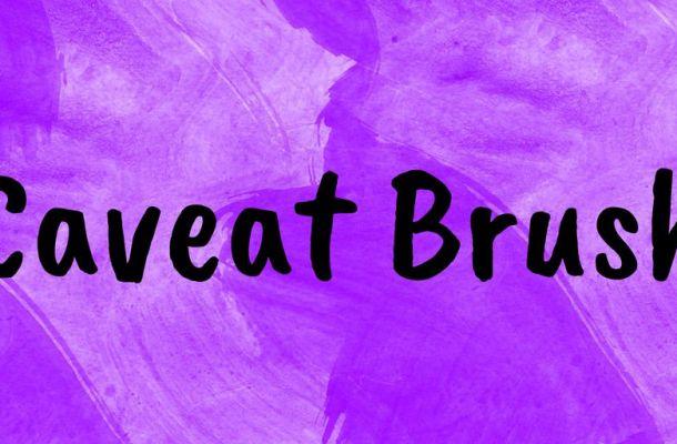 Caveat Brush Font