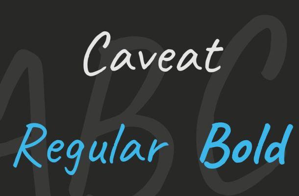 Caveat Font Family