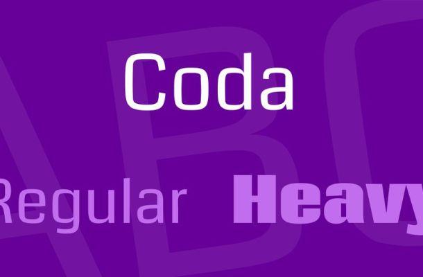 Coda Font Family