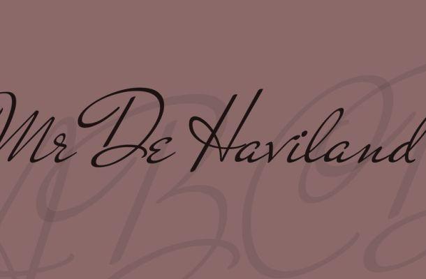 Mr De Haviland Font
