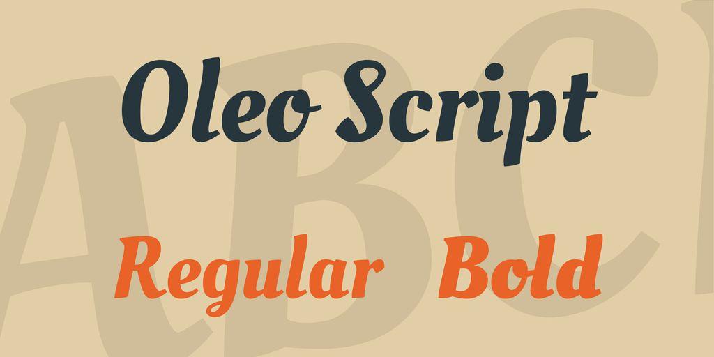 oleo-script-font