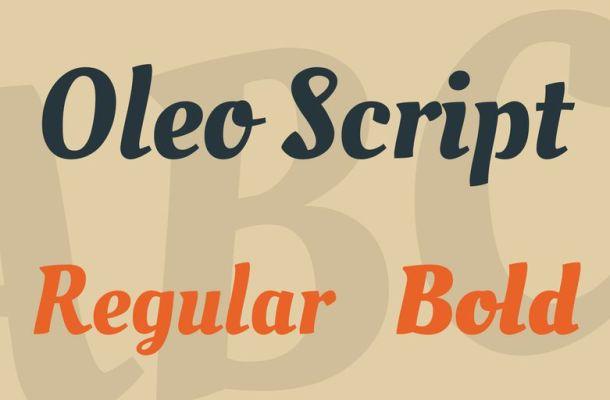 Oleo Script Font Family
