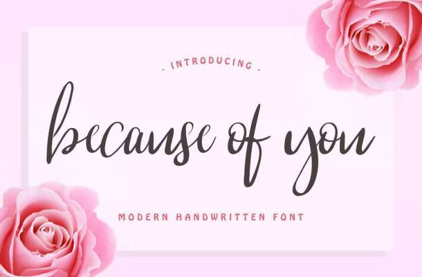 Because Of You Font