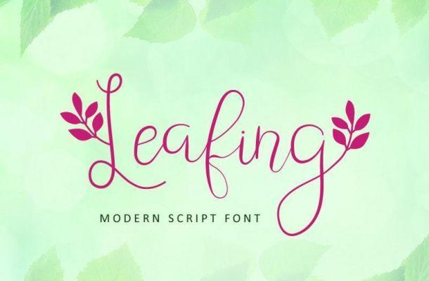 Leafing Modern Script Font
