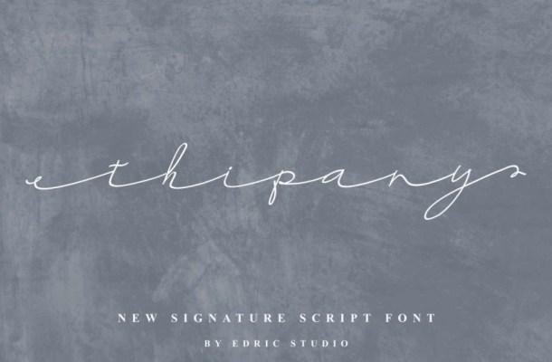 Thipany Signature Font