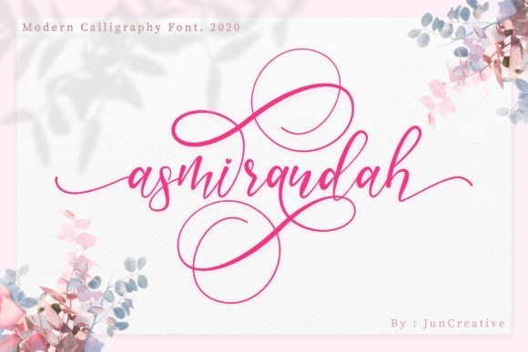 Asmirandah Calligraphy Font