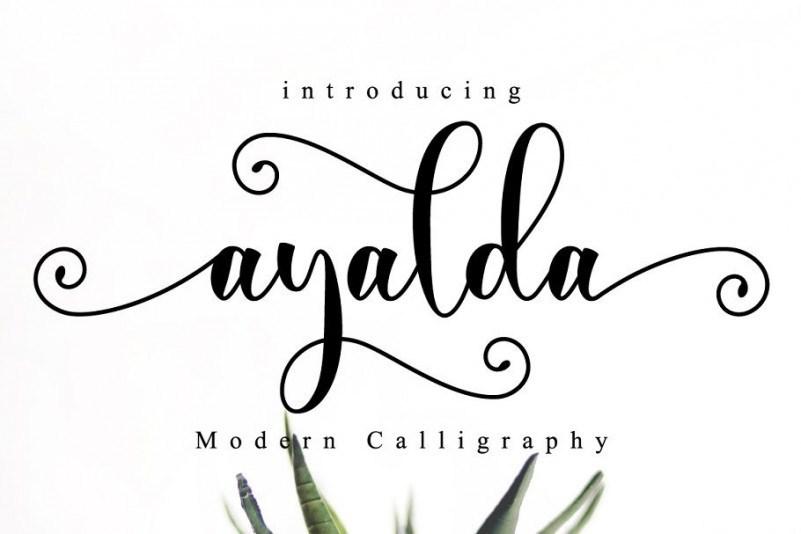 ayalda-calligraphy-font