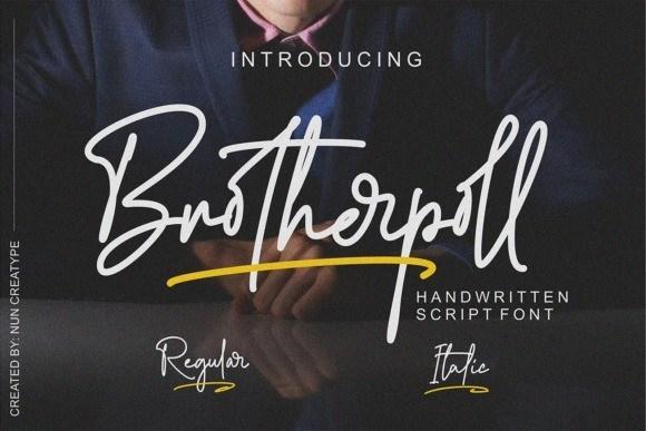 Brotherpoll Handwritten Font