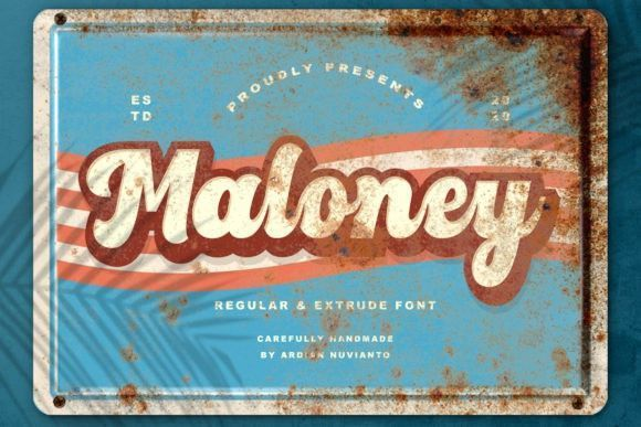 Maloney Display Font