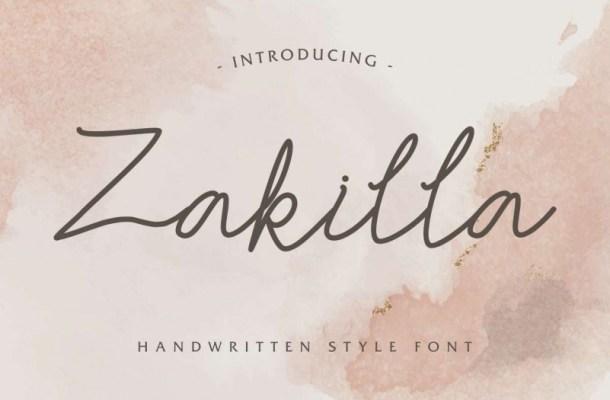 Zakilla Handwritting Font