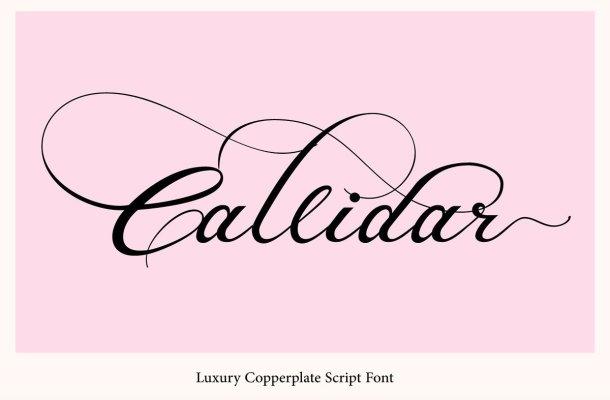 Callidar Calligraphy Font