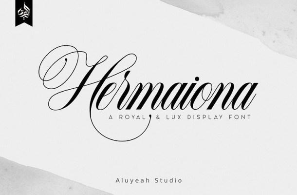 Hermaiona Calligraphy Font