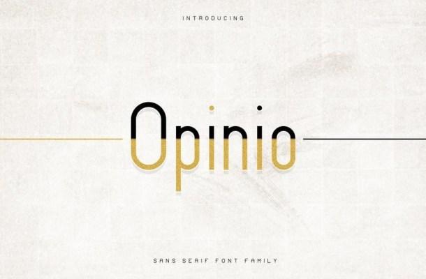 Opinio Sans Font Family