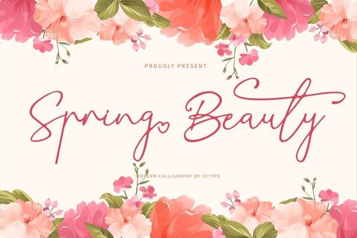 Spring-Beauty-Font