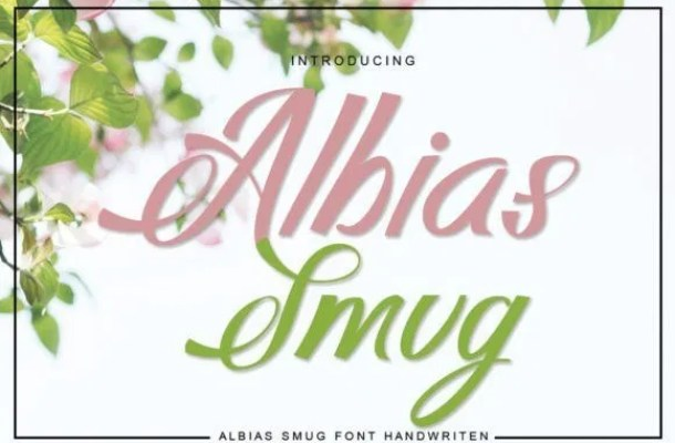 Albias Smug Script Font