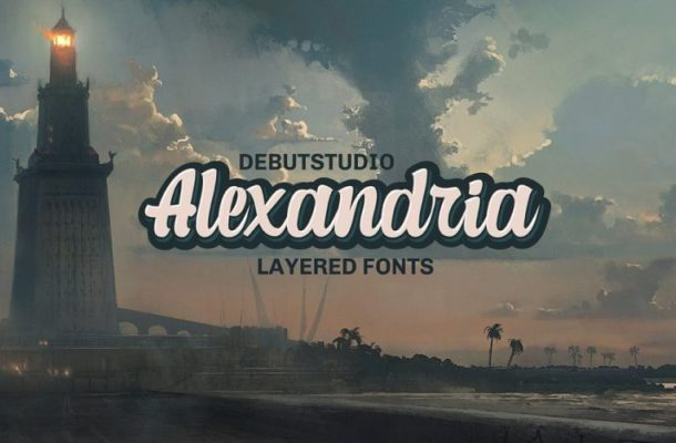 Alexandria Script Layered Font