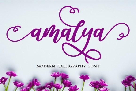 Amalya Modern Calligraphy Font