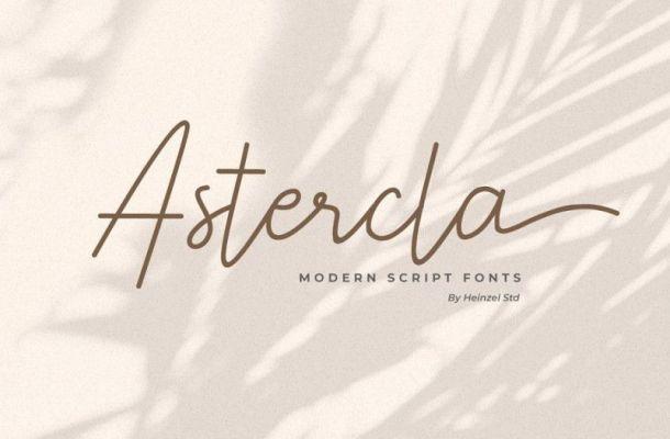 Astercla Modern Script Font